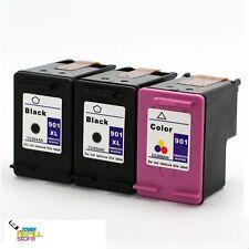3PK Ink for HP 901XL CC654AN Black & HP 901 CC656AN OfficeJet G510a G510g J4540