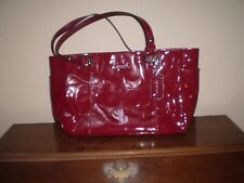 AUTHENTIC COACH BURGUNDY 100% PATENT LEATHER HANDBAG GREAT CONDITION - READ
