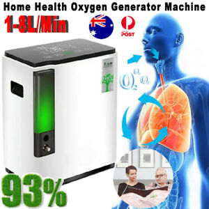 Intelligent 8L Portable O2-OXYGEN Concentrator Machine Air Purifier Home 120W