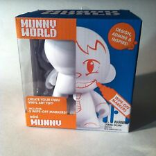 """Urban Vinyl Munny World White Blank 4"""" DIY Custom? HTF Kidrobot"""