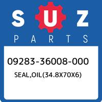 09283-36008-000 Suzuki Seal,oil(34.8x70x6) 0928336008000, New Genuine OEM Part