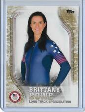 2018 Topps Olympics Brittany Bowe Speedskating Gold Parallel Usa-34 Card ~ 24/25