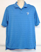Adidas Columbia 1898 Men's L Blue Golf Shirt, Large ClimaCool Polo Embroidered