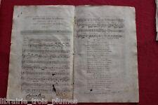 ✒ ca.1807 Partition gravée - Jean-Baptiste Bédard Les quatre âges de l'amour