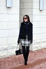 Haute Hippie  Black Swan Plaid Pocket Zip Wool Pensil Skirt     M