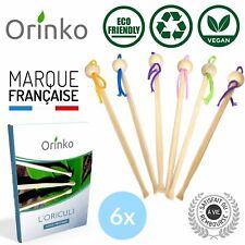 Oriculi en Bambou x 6, Cure Oreille Écologique Réutilisable avec E-Book -