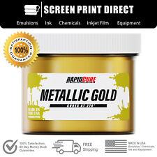 Ecotex Metallic Gold Premium Plastisol Ink For Screen Printing All Sizes