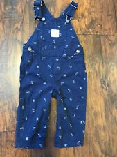 Carter's 12 Months Blue Bib Overalls Natutical Boat Captain of the Sea Baby