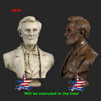 ❤️️Abraham Lincoln❤️️WOOD CARVED BUST SCULPTURE STATUE FIGURE ART PICTURE ICON