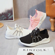Women's New Breathable Flying Weaving Shoes Running Casual Flat Mesh Sports