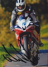 William Dunlop Hand Signed 7x5 Photo - Isle of Man TT Autograph.
