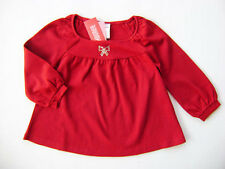 GYMBOREE Glamour Kitty Red Cotton Rhinestone Swing Top Holiday Girls 3 NEW