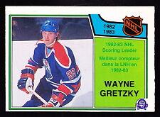 1983-84 O-PEE-CHEE #217 NHL SCORING LEADERS W/WAYNE GRETZKY