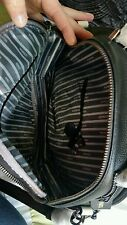 ♡♡♡ BNWT MIMCO BLACK / IVORY Leather Handbag + Dust Bag 30x9cm