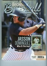 NEW CURRENT BECKETT BASEBALL PRICE GUIDE MAGAZINE, AUGUST 2020, JASSON DOMINGUEZ