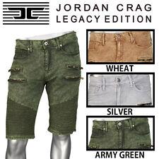 NEW MEN JORDAN CRAIG Jordan Craig Twill Denim Moto Short J239S