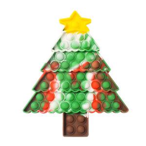 Christmas Game Push Pop Bubble Fidget Squeeze Autism Sensory Silicone Toy Stress
