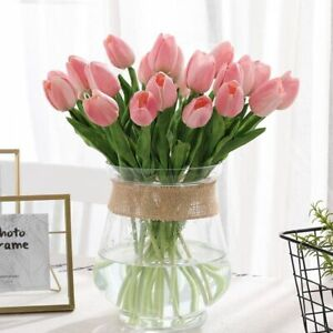 31 Pcs/Lot Tulips Bouquet Artificial Flowers Fake Silk Real Touch Home Party