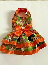Handmade fall doggie dress size medium