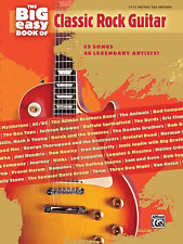 THE BIG EASY BOOK OF CLASSIC ROCK GUITAR-EASY GUITAR TAB MUSIC BOOK-NEW ON SALE!