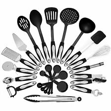 26 Piece Kitchen Utensils Set & Cooking Tools, Stainless Steel & Nylon Gadgets,