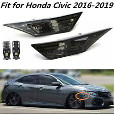 SMOKE TINTED LENS SIDE MARKER LAMP LIGHT FIT FOR 2016-2020 HONDA CIVIC JDM