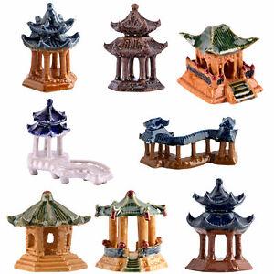 SIMULATED CHINESE ARCHITECTURAL PAVILION MINIATURE LANDSCAPE ORNAMENT HOME DECOR