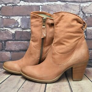 Womens MJUS Brown Leather Zip Up High Heel Ankle Boots UK 5 EUR 38 RRP - £69