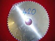 "Blank 40T 420 (1/2"" x 1/4""),chain pitch Rear Sprocket Alloy. New"