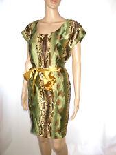 Womens New Design Vtg Snake Print Cocktail Evening Party Belt Dress One sz AE70