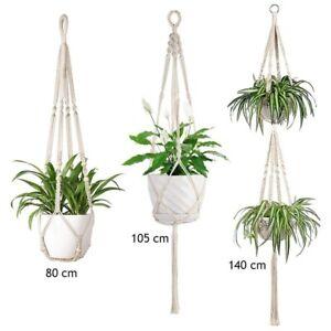 Macrame Plant Hanger Vintage Rope Basket Indoor Pot Holder Flower Garden Decor