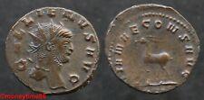 Romaine ! Antoninien de cuivre de GALLIEN revers Antilope à gauche
