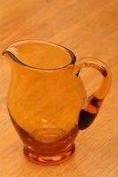 Vintage Amber Glass Creamer Clear With Handle