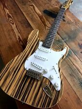 Exotic Wood Series ZEBRANO 6 string CONCERT Electric Guitar (Natural)