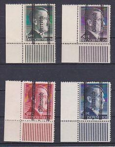 1945 Grazer Markwerte 693 - 696 Postfrische ** Eckrandstücke geprüft + signiert