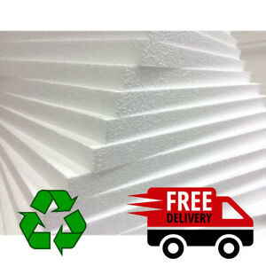 EXPANDED POLYSTYRENE EPS FOAM PACKING INSULATION SHEETS *QTY'S* DIFFERENT SIZES
