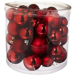 Vickerman Shiny/Matte Balls, Includes 50 Per Box, 1.5 by 2-Inch, Red~SEAMLESS
