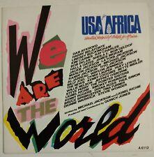 "USA For Africa We Are The World  Single 7"" Holanda ed. para UK agujero pequeño"