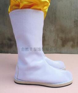 New Mens Chinese Swordsman Boots Hanfu Casual Cosplay Mid-Calf Boots Flats Shoes