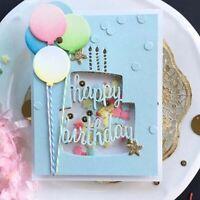 Stanzschablone Torte Kuchen Hochzeit Weihnachts Oster Geburtstag Karte Album DIY