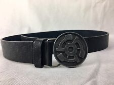 STEREO Skateboards Vintage Audio Record Logo 45 LEATHER BELT Black SIZE 36