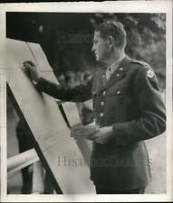 1945 Press Photo Captain Horton Smith during the Golf Tournament in France