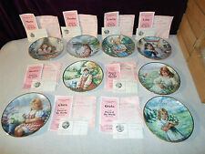 New ! Lot 8 Faces of the World w/ *Coa* Plate Set Hamilton Collection Child Art
