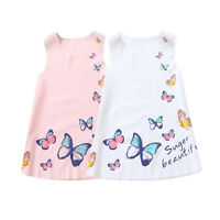 Baby Toddler Kid's  Girls Summer Clothes Sleeveless Floral Skirt One Piece Dress