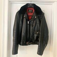 Vintage 60s Sears Oakbrook Sportswear Motorcycle Leather Jacket D Pocket 42 Reg