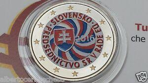 2 euro 2016 SLOVACCHIA color farbe couleur cor Slovaquie Slovensko Slowakei