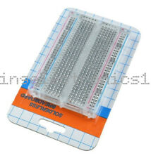 Universal Mini Solderless Breadboard Transparent Material 400 Points Available D