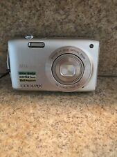 Nikon Coolpix S3200 Silver 16 MP Slim Body Wide 6X Zoom Digital Camera