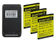 3X QUANTUM Replacement Battery + Charger for Samsung Galaxy S3 12 Month Warranty