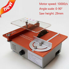 Mini DIY Table Saw Table Woodworking Cutting Machine Acrylic Wood PCB Cutter New
